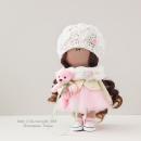 Интерьерная кукла в розово-салатовых тонах