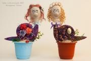 Улиточки в цветочных горшочках