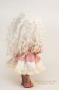 Интерьерная кукла в нежно-розовых тонахя