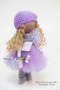 Интерьерная кукла в сиреневом наряде